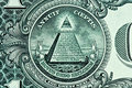 Pyramid on One Dollar Bill Royalty Free Stock Photos