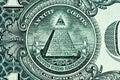 Pyramid on One Dollar Bill Royalty Free Stock Photos