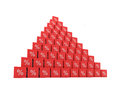 Pyramid of percent high growing Royalty Free Stock Photography
