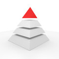 Pyramid with a red top Royalty Free Stock Images