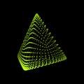 Pyramid. Regular Tetrahedron. Platonic Solid. Regular, Convex Polyhedron. Geometric Element for Design. Molecular Grid. 3D Grid Royalty Free Stock Photo
