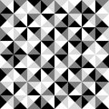 Pyramid Seamless Black and White Tile Pattern - Count the Squares