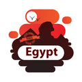 Pyramid and Sphinx The symbols of Cairo. Welcome to Egypt concept.
