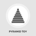 Pyramid toy vector flat icon