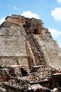 Pyramid in uxmal, mexico Royalty Free Stock Photo