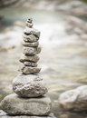 Pyramide of zen stones, wellness concept of balance and harmony Royalty Free Stock Photo