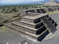 Pyramides Mexique de Teotihuacan Photographie stock libre de droits