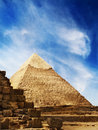 Pyramids in egypt the giza Royalty Free Stock Photo