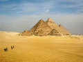 The Pyramids of Giza, Cairo, Egypt Royalty Free Stock Photo