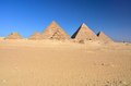 Pyramids at Giza, Egypt Stock Photo