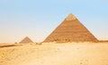 Pyramids in Giza. Egypt Royalty Free Stock Photo