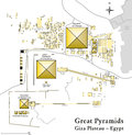 Pyramids of giza map illustration the necropolis with the the archeological site on the plateau vector all Stock Image
