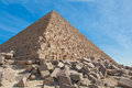 Pyramids giza tumbling rocks Stock Photos