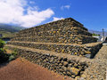 Pyramids guimar tenerife canary islands spain Stock Photo