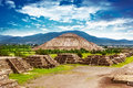 Pyramids of mexico the sun and moon on the avenue the dead teotihuacan ancient historic cultural city old ruins aztec civilization Royalty Free Stock Photo