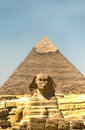 The Pyramids and the Sphinx at Giza. Egypt. September 2008 Royalty Free Stock Photo