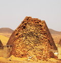 Pyramids in the Sudan Royalty Free Stock Photos