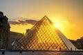 Pyramids sunset Royalty Free Stock Photo