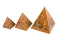 Pyramids three size of souvenirs from egypt Royalty Free Stock Photography