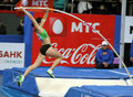 Pyrek Monika - Polish pole vaulter Royalty Free Stock Photos