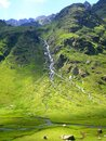 Pyrenean watercourse in the mountain relief Royalty Free Stock Photo
