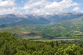 Pyrenees mountains landscape Royalty Free Stock Images