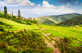 Pyrenees mountains landscape in summer huesca agaron Royalty Free Stock Image