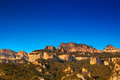 Pyrenees mountains at sunset and blue sky Royalty Free Stock Images