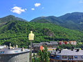 The Pyrenees mountains surrounding Andorra La Vella Royalty Free Stock Photo