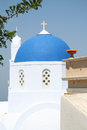 Pyrgos santorini a church in city island greece Stock Photography