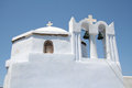 Pyrgos santorini a church in city island greece Stock Photos