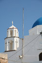 Pyrgos santorini a church in city island greece Royalty Free Stock Image