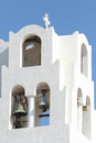 Pyrgos santorini a church in city island greece Stock Images