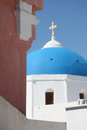 Pyrgos santorini a church in city island greece Royalty Free Stock Photos