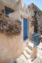 Pyrgos santorini a street in city island greece Royalty Free Stock Photography