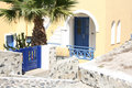 Pyrgos santorini a street in island greece Stock Photography