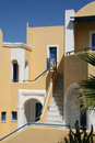 Pyrgos santorini a street in island greece Royalty Free Stock Images