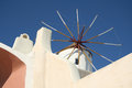 Pyrgos santorini a windmill in city island greece Stock Photography