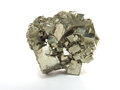 Pyrite iron on white background Royalty Free Stock Photos