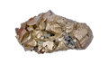 Pyrite single large cubes Stock Photos