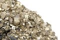 Pyrites with galena, calcite, quartz Royalty Free Stock Photo