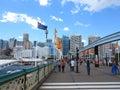 Pyrmont Bridge Darling Harbour, Sydney Royalty Free Stock Photo