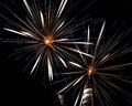 Pyrotechnic Fireworks at Lausanne, Switzerland Stock Photo
