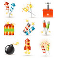 Pyrotechnic set Stock Image