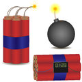 Pyrotechnic set vector icon vector illustration eps Royalty Free Stock Photos