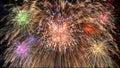 Pyrotechnics exploding Royalty Free Stock Photo