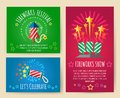 Pyrotechnics show posters Royalty Free Stock Photo