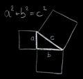 Pythagoras theorem Royalty Free Stock Photo