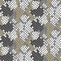 Python snake skin artificial seamless vector texture. Royalty Free Stock Photo