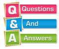 Q And A - Questions And Answers Colorful Vertical Royalty Free Stock Photo